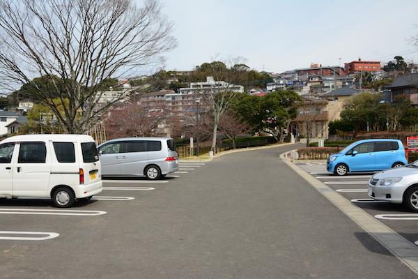 天神公園の駐車場