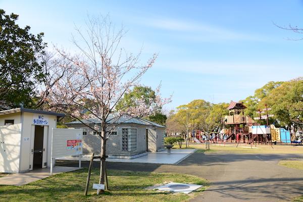 佐世保公園のきららパークとトイレ