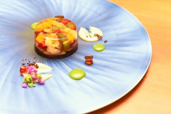 鶏挽肉と野菜の煮こごり1