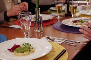 九十九島とらふぐを食す会のテーブル