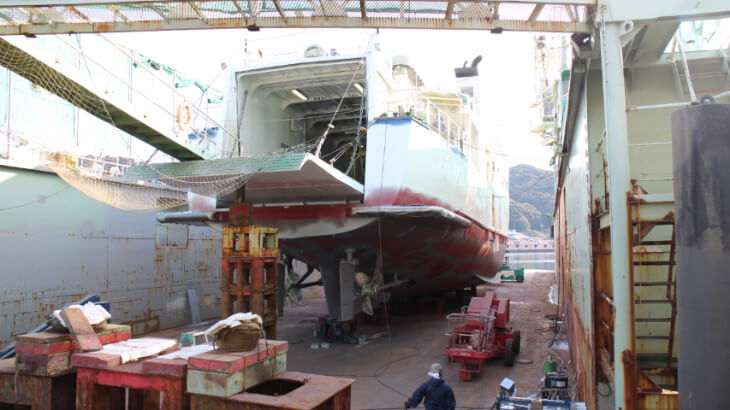 前畑造船作業風景2