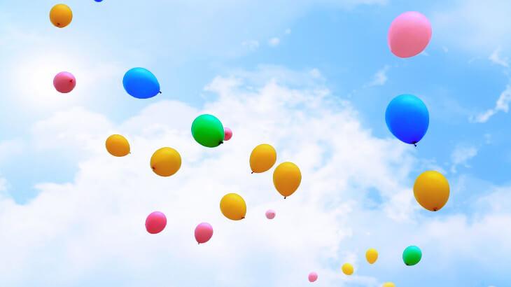 祝い 風船