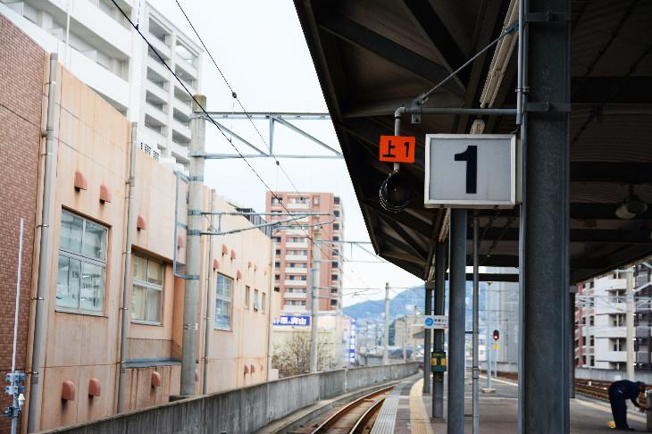 【サセモン】佐世保駅ホーム1番線のりば