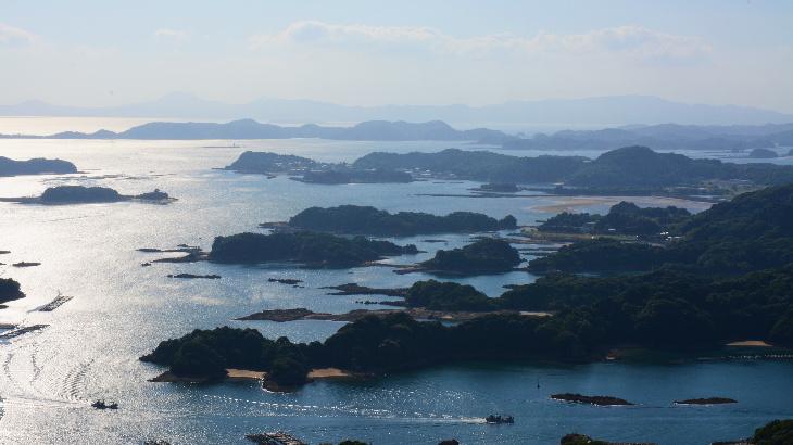石岳展望台から見える九十九島