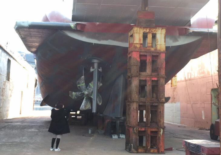 前畑造船作業風景3