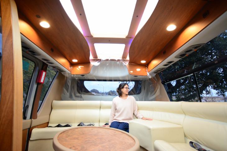 SASEBOクルーズバス『海風』内装と座席