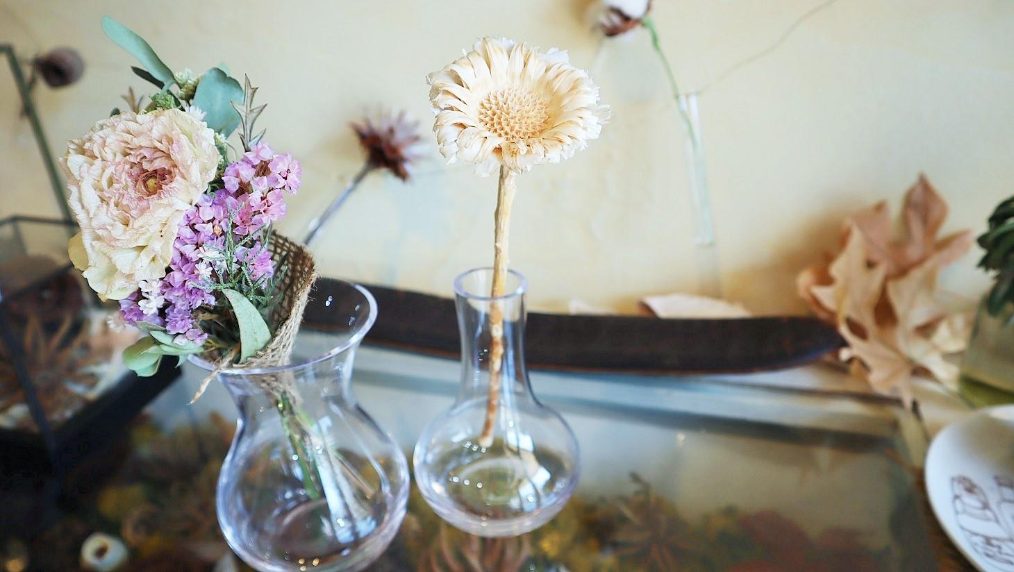 ヤドリギ yadorigi ドライフラワー ブーケ 一輪 花瓶