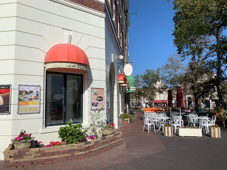 ハウステンボスのカフェ外観