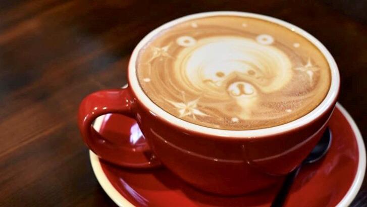 ジャムコーヒーのラテアート