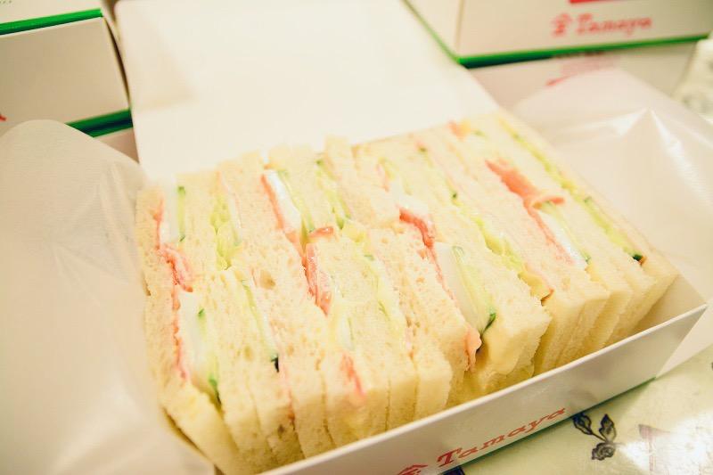 佐世保玉屋ラビアンローズのサンドイッチ