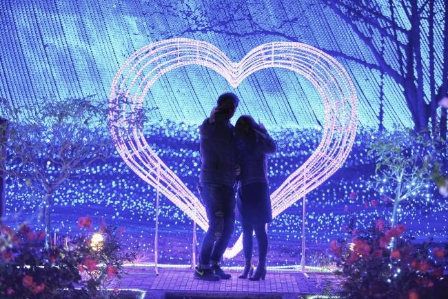 ハウステンボス バレンタインイベント ハートスポット
