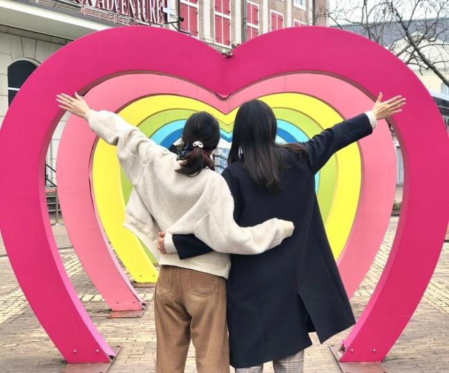 ハウステンボス バレンタインイベント インスタスポット