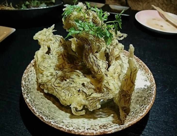 居酒屋うみ もずくの天ぷら