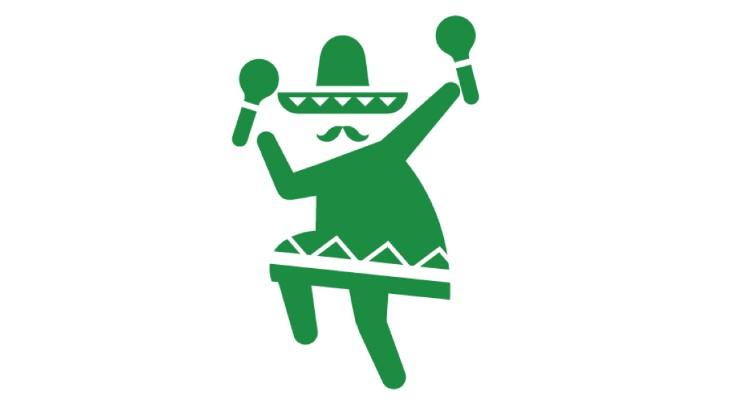 踊るメキシコ人