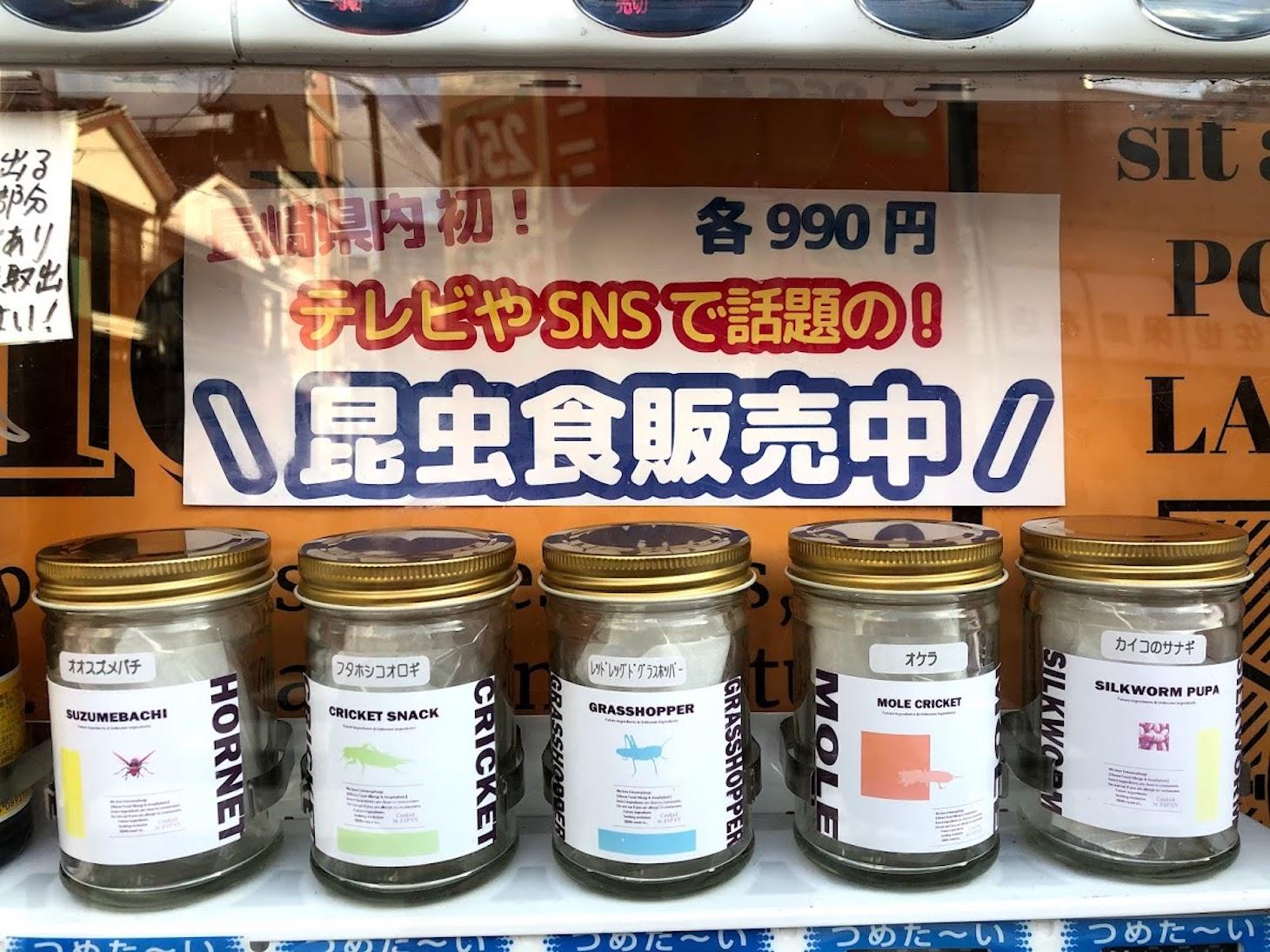 昆虫食販売機の写真