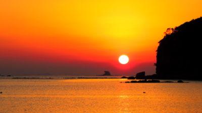 船越展望所 夕日