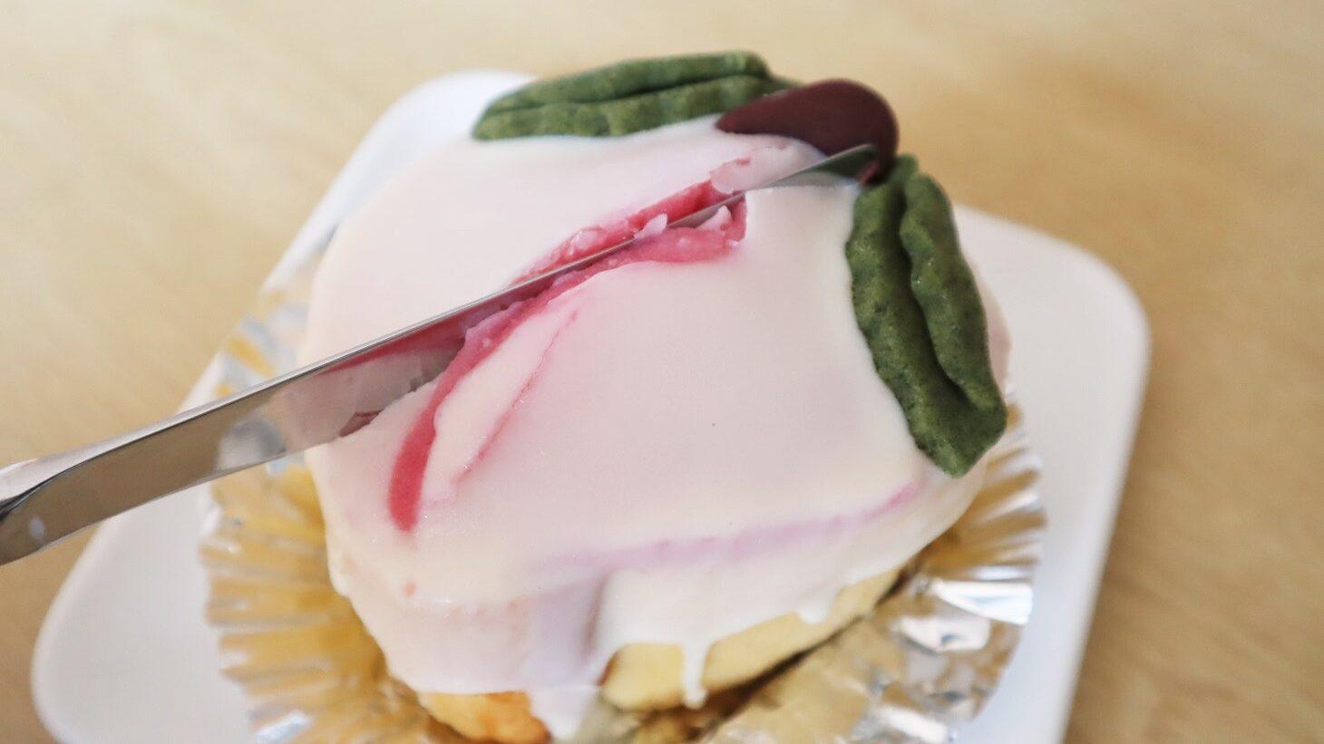 草加家 桃ケーキ