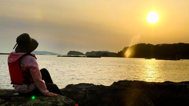 カヤック 夕陽