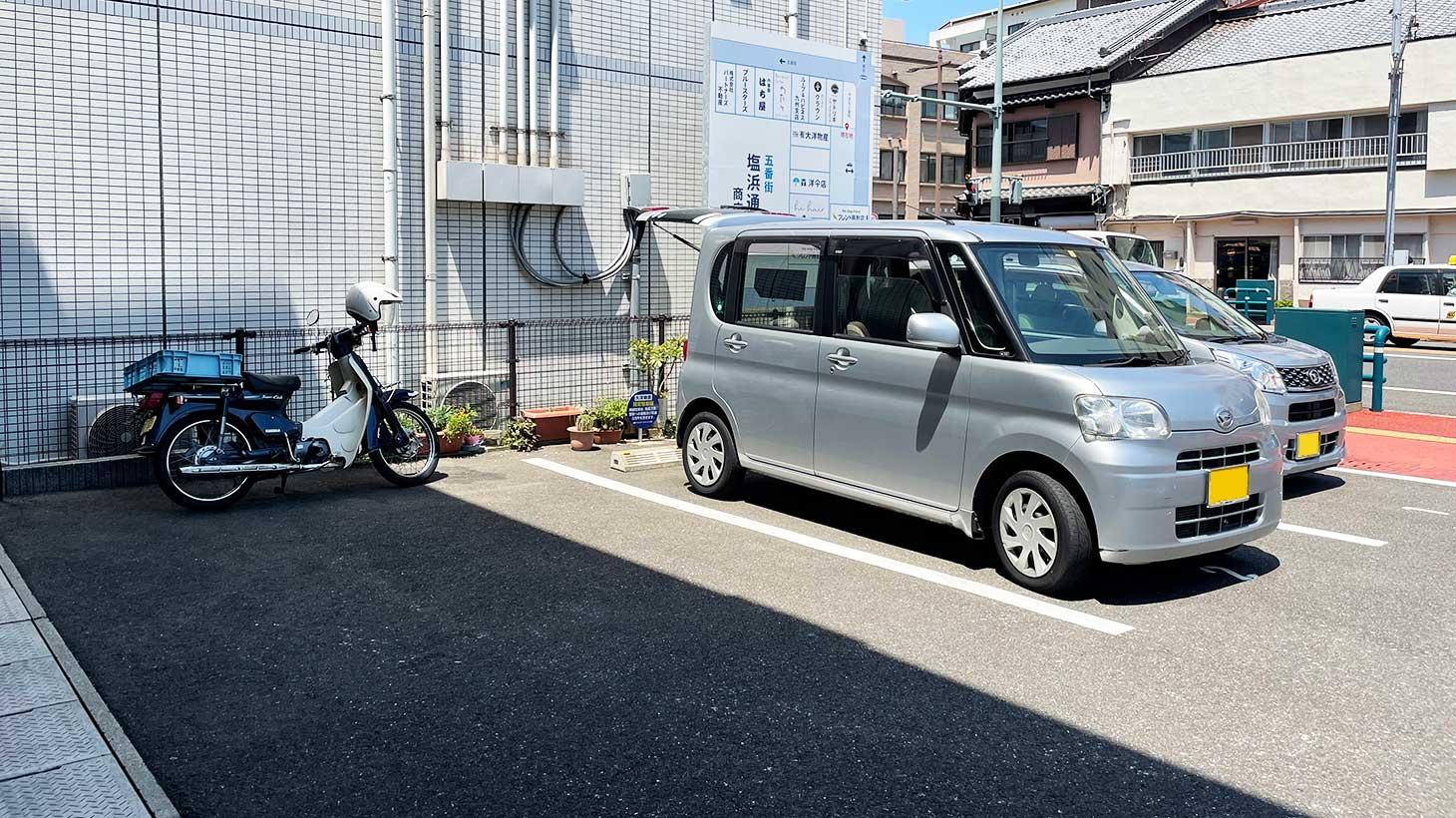 佐世保の大洋物産の駐車場
