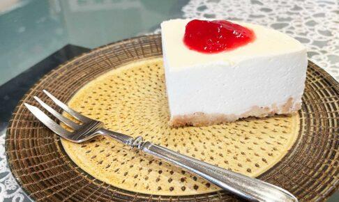 陽だまりカフェのレアチーズケーキ